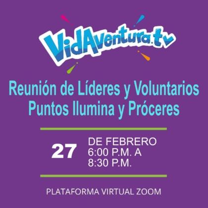 Líderes y Voluntarios – Vidaventura.